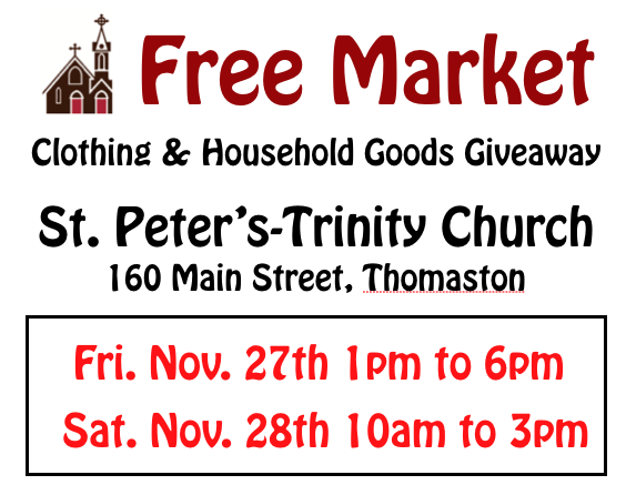 Free Market event - Clothing and household goods giveaway